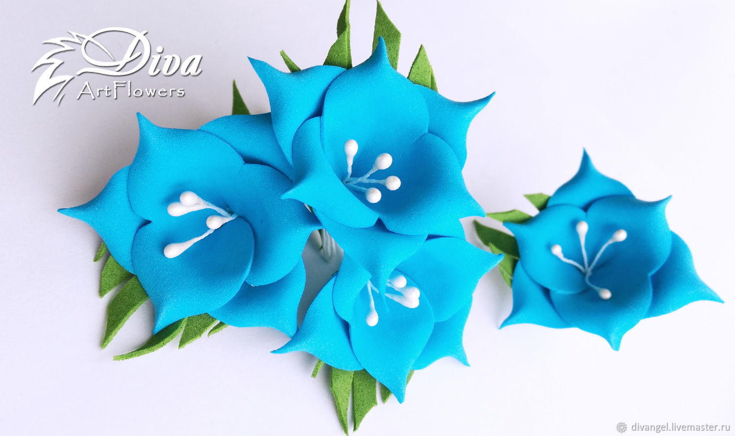 Forget Me Not Artificial Flowers From Tamarana With White Stamens