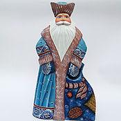 Подарки к праздникам handmade. Livemaster - original item Santa Claus painted Blue. Handmade.