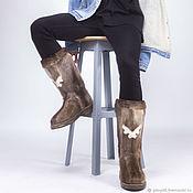 handmade. Livemaster - original item Men`s felt boots made of natural reindeer skin. Handmade.