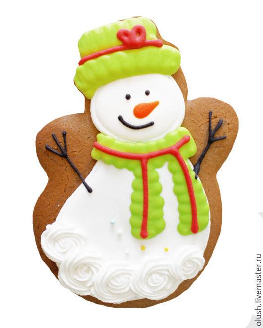 Кулинарные сувениры ручной работы. Ярмарка Мастеров - ручная работа. Купить Снеговик. Handmade. Коричневый, пряники, пряничное тесто