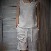 """Одежда ручной работы. Ярмарка Мастеров - ручная работа Льняной костюм """"Летний"""". Handmade."""