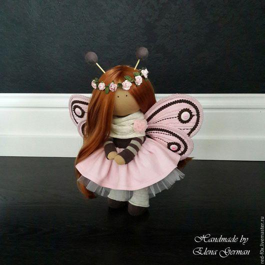 Коллекционные куклы ручной работы. Ярмарка Мастеров - ручная работа. Купить Интерьерная кукла. Handmade. Розовый, рыжий
