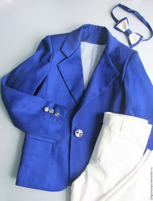 """Одежда для мальчиков, ручной работы. Ярмарка Мастеров - ручная работа. Купить Костюм """"Франт"""". Handmade. Тёмно-синий, васильковый цвет"""