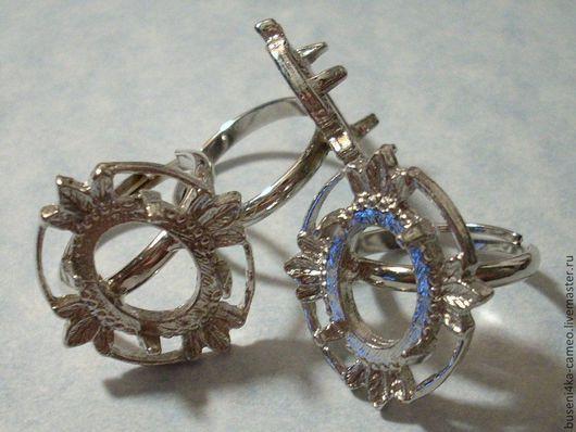 Для украшений ручной работы. Ярмарка Мастеров - ручная работа. Купить Основа для кольца Листья 8х10мм, античное серебро (1шт). Handmade.