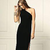 Одежда ручной работы. Ярмарка Мастеров - ручная работа Черное платье вечернее нарядное коктейльное. Handmade.