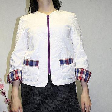Одежда ручной работы. Ярмарка Мастеров - ручная работа Жакеты: Белый жакет. Handmade.