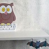 Для дома и интерьера ручной работы. Ярмарка Мастеров - ручная работа Полка деревянная Мудрая сова. Handmade.