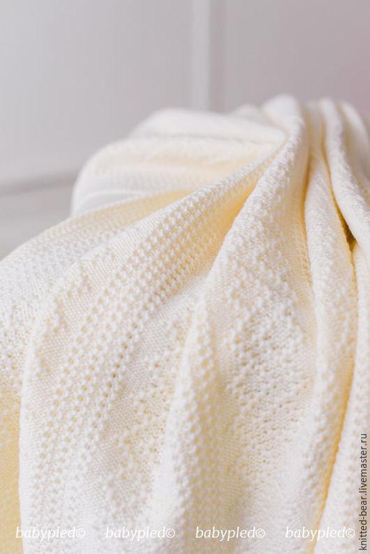 Пледы и одеяла ручной работы. Ярмарка Мастеров - ручная работа. Купить Вязаный детский плед. Handmade. Плед на выписку