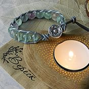 Фен-шуй и эзотерика handmade. Livemaster - original item A charm bracelet style Chan Luu with fluorite. Handmade.