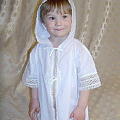 Работы для детей, handmade. Livemaster - original item Baptismal shirt with a hood.. Handmade.
