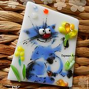 """Сувениры и подарки ручной работы. Ярмарка Мастеров - ручная работа """"Небесный кот"""", магнит. Handmade."""