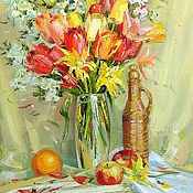 Картины и панно handmade. Livemaster - original item Oil painting still life Spring. Handmade.