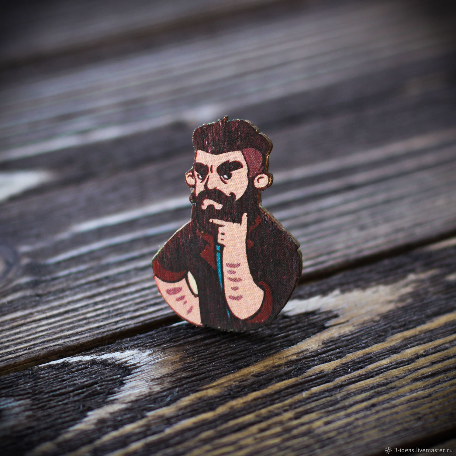Wooden icon Parodist, Badge, Volzhsky,  Фото №1