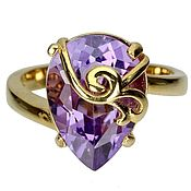 Украшения handmade. Livemaster - original item Silver ring with amethyst, p. .16. Handmade.
