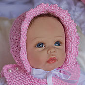 """Работы для детей, ручной работы. Ярмарка Мастеров - ручная работа Комплект для новорожденной девочки""""маленькая парижанка"""". Handmade."""