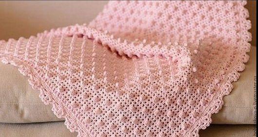 Для новорожденных, ручной работы. Ярмарка Мастеров - ручная работа. Купить Детский плед. Handmade. Розовый, детский плед