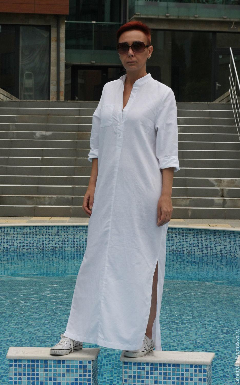 5cd7fbb3db7 ... Платья ручной работы. Заказать Длинные рубашки из льна   Платье. Жана  Кошева (CARAMELfs ...