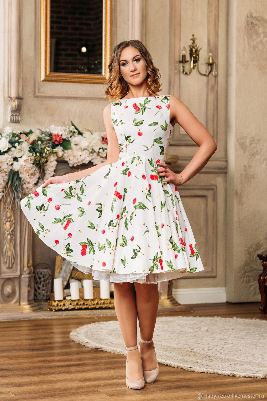 d5155e1ab2c6dfd Купить Платье в стиле ретро ' Платья ручной работы. Платье в стиле ретро  'Вишенки'. Элегантные платья. Интернет