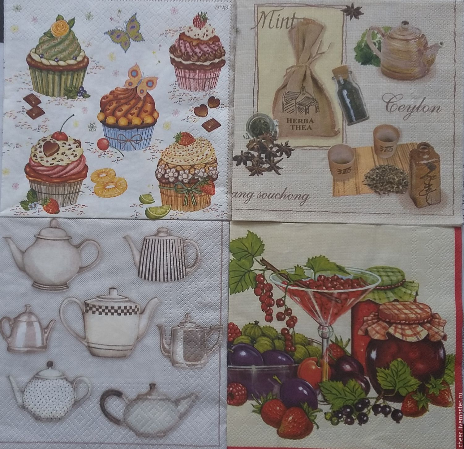 Napkins for decoupage in stock, Napkins for decoupage, Moscow,  Фото №1
