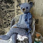 Куклы и игрушки ручной работы. Ярмарка Мастеров - ручная работа Маленькая голубая кошка. Handmade.
