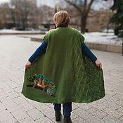 Одежда handmade. Livemaster - original item Women`s knitted long Chameleon vest. Handmade.