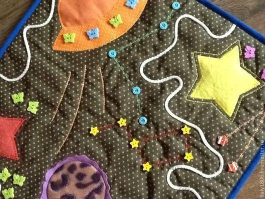 Развивающие игрушки ручной работы. Ярмарка Мастеров - ручная работа. Купить массажно-развивающая дорожка. Handmade. Развивашка, хлопок 100%