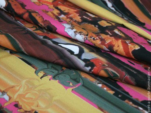 Шитье ручной работы. Ярмарка Мастеров - ручная работа. Купить MOSCHINO хлопок  стрейч  , Италия. Handmade. Разноцветный, итальянский хлопок