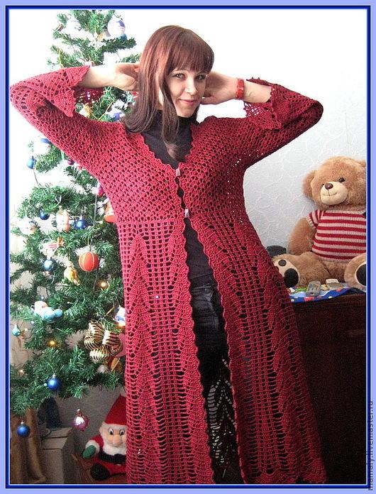 Кофты и свитера ручной работы. Ярмарка Мастеров - ручная работа. Купить Мой Бордовый колосок. Handmade. Бордовый, одежда для женщин