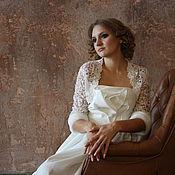 Свадебный салон ручной работы. Ярмарка Мастеров - ручная работа Болеро с меховыми манжетами 2. Handmade.