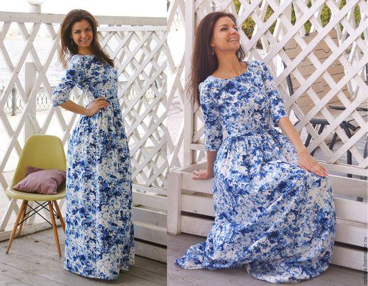 летнее платье, длинное платье, голубое длинное платье, платье гжель, стильное платье, вечернее платье. голубое платье в пол, синее платье, весеннее платье, летнее платье, длинное платье, голубое длинн