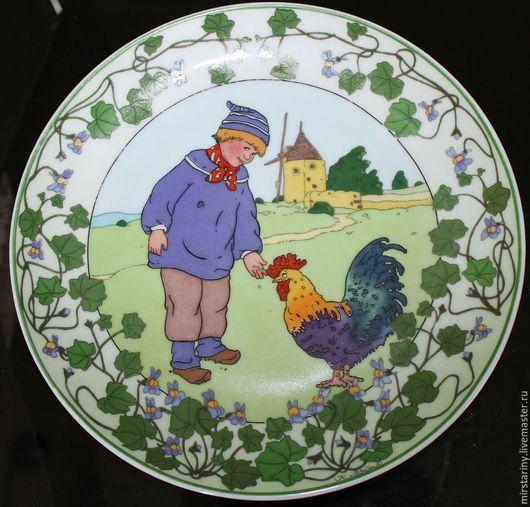 """Винтажные предметы интерьера. Ярмарка Мастеров - ручная работа. Купить Замечательная тарелка из серии """"Наши дети"""" Villeroy & Boch, Германия. Handmade."""