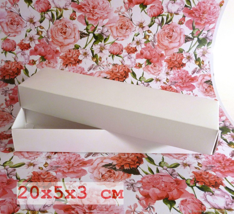 20х5х3 - коробка белая (мелованный картон, полностью белая)крышка-дно, Коробки, Санкт-Петербург,  Фото №1