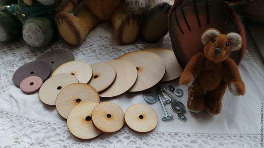 Куклы и игрушки ручной работы. Ярмарка Мастеров - ручная работа. Купить Диски для мишек Тедди, для шарниров, диаметр 10-120 мм (набор 10 шт).. Handmade.