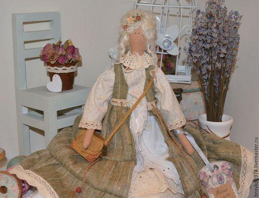 Куклы Тильды ручной работы. Ярмарка Мастеров - ручная работа. Купить Беатрис. Handmade. Бежевый, текстильная кукла, хлопок