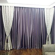 Для дома и интерьера ручной работы. Ярмарка Мастеров - ручная работа Шторы в гостиную Фиолетовый Атлас. Handmade.