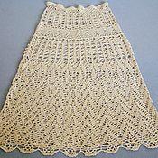 Одежда ручной работы. Ярмарка Мастеров - ручная работа юбка из льна и шёлка. Handmade.