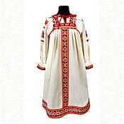 Русский стиль handmade. Livemaster - original item Copy of Copy of Copy of Сotton dress for woman and girl Nadia. Handmade.