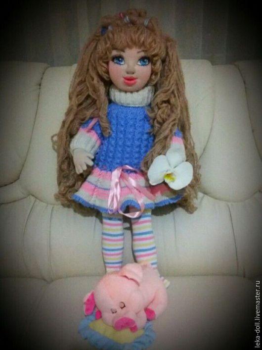 Коллекционные куклы ручной работы. Ярмарка Мастеров - ручная работа. Купить текстильная кукла. Handmade. Бежевый, трикотаж, мохер
