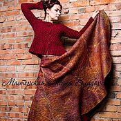 """Одежда handmade. Livemaster - original item Юбка нуно-войлок """"Золотая марсала"""". Handmade."""