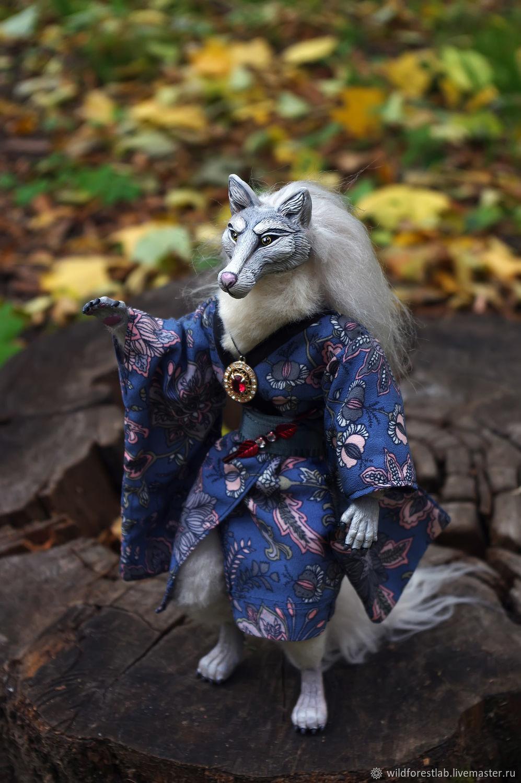 Сказочный волк в кимоно, Куклы, Тверь, Фото №1