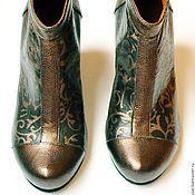 """Обувь ручной работы. Ярмарка Мастеров - ручная работа Ботильоны """"Медные"""". Handmade."""