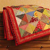 Для дома и интерьера ручной работы. Ярмарка Мастеров - ручная работа Лоскутное одеяло для Арины. Handmade.