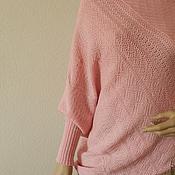 Одежда ручной работы. Ярмарка Мастеров - ручная работа Пуловер- пончо Нежный розовый. Handmade.