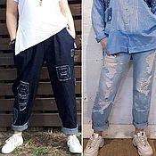 Джинсы ручной работы. Ярмарка Мастеров - ручная работа Рваные джинсы. Handmade.