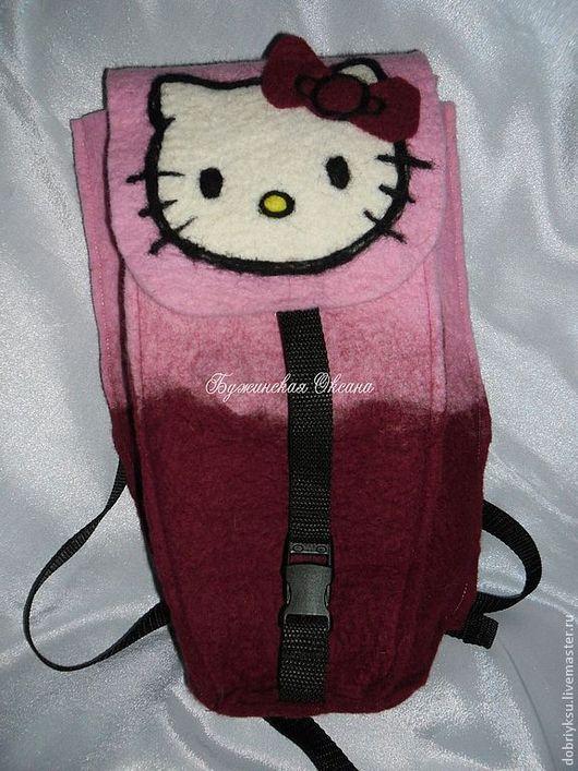 """Рюкзаки ручной работы. Ярмарка Мастеров - ручная работа. Купить рюкзачок """"Hello Kitty"""". Handmade. Бордовый, Hello Kitty, фастекс"""