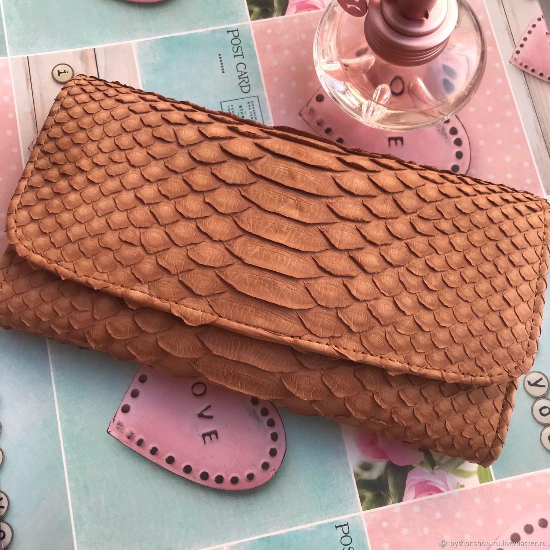 Three-fold women's purse made of Python skin, Wallets, Krasnodar,  Фото №1
