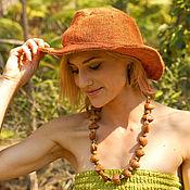 Аксессуары handmade. Livemaster - original item Hat (hemp and cotton). Handmade.