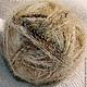 одинарная нитка из  собачьего пуха для вязания крючком