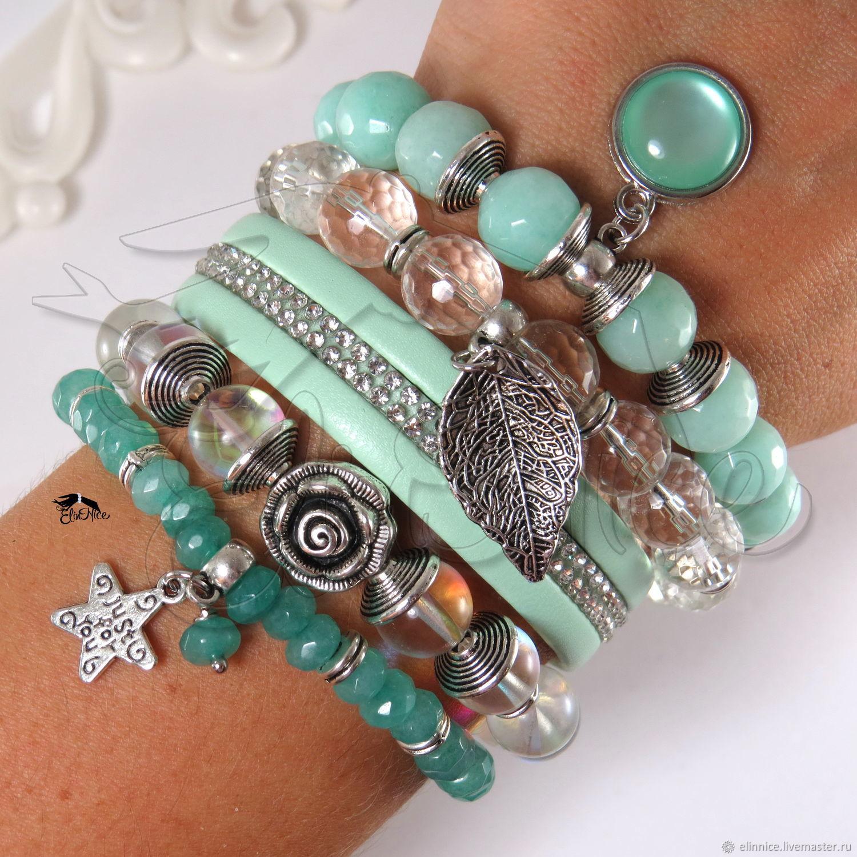 Bracelets From Natural Stones Winter Rose