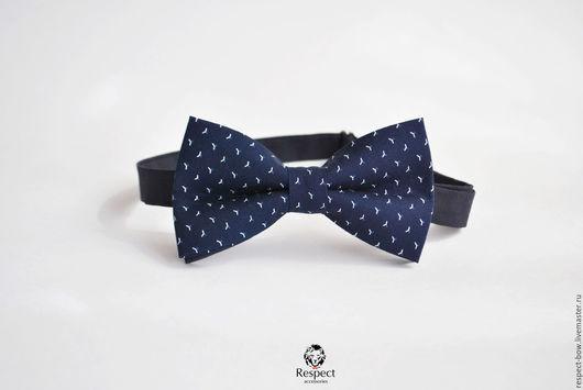 Галстуки, бабочки ручной работы. Ярмарка Мастеров - ручная работа. Купить Галстук бабочка Боярин / бабочка-галстук темно синий с узором. Handmade.